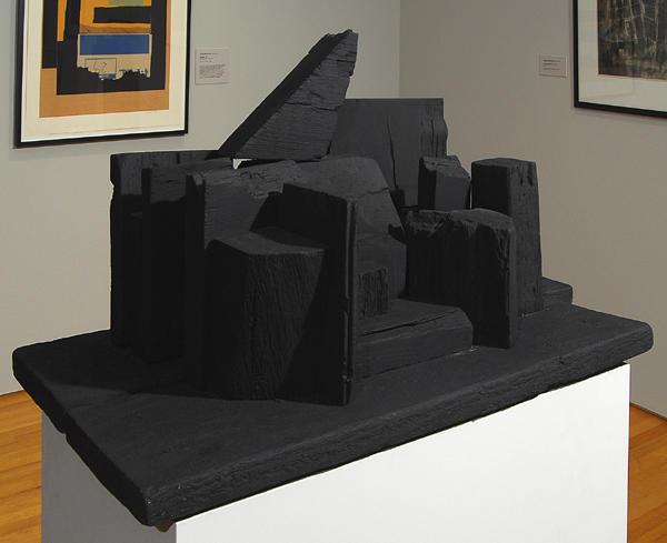 Louise Nevelson, Untitled (Landscape), 1954, Painted wood, Gift of Hilton and Esta Kramer, 2006.7