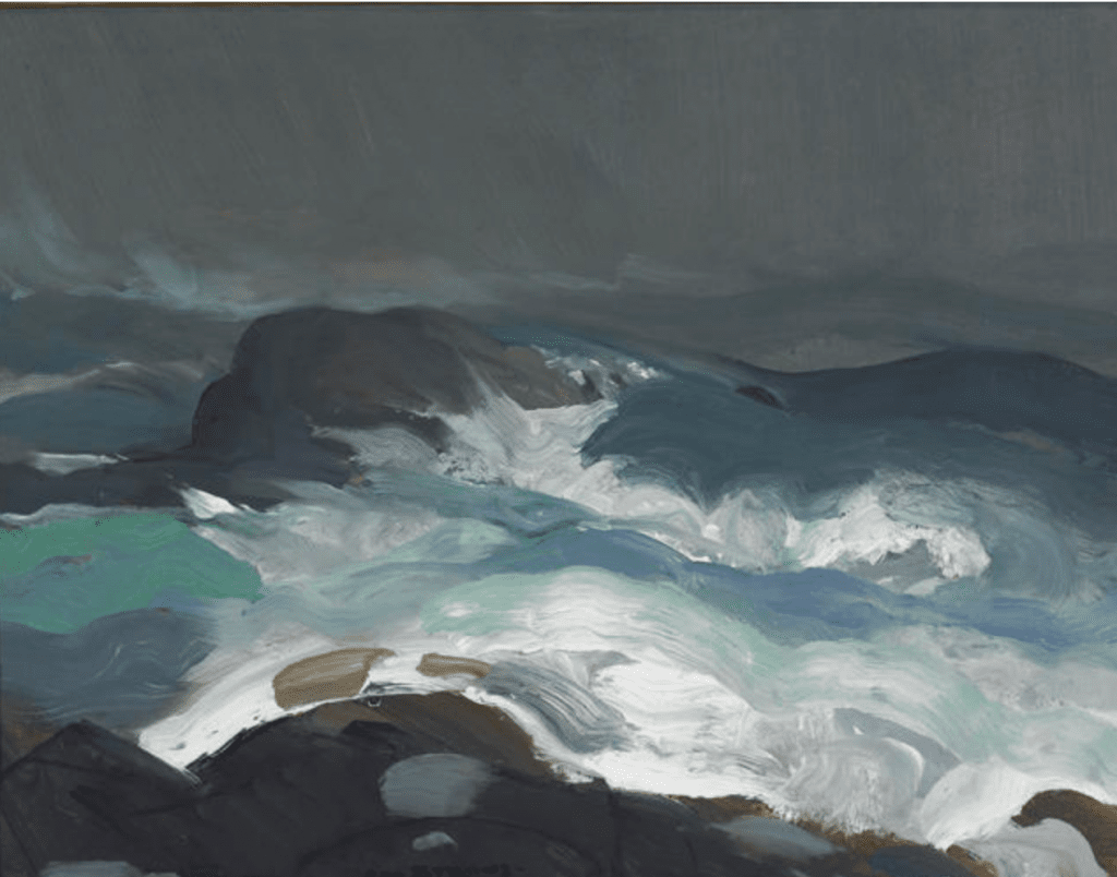 George Bellows, Sea in Fog, 1913, Oil on plywood panel, Museum purchase, 1945.568
