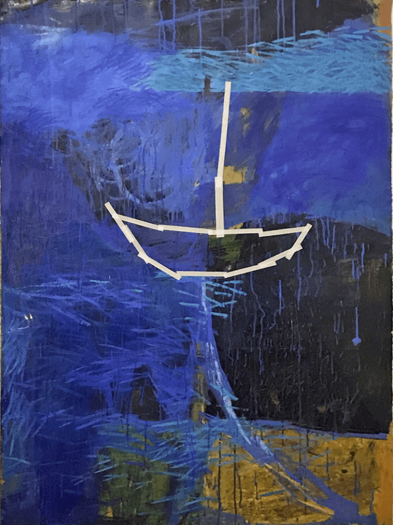 James Linehan, Tangaroa (The Vast Ocean), 1988, Acrylic on paper, Gift of the Artist in cooperation with Frick Gallery Belfast, Maine, courtesy of Sherry French Gallery, New York, New York