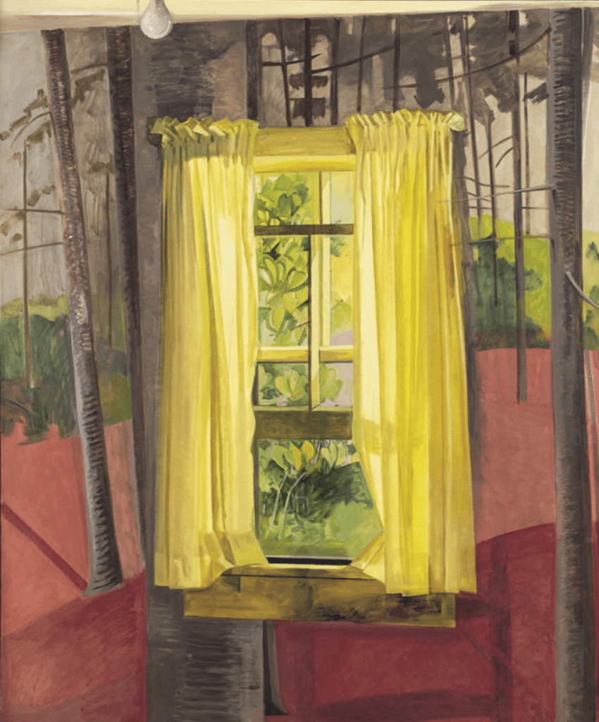 Lois Dodd, The Painted Room, 1982, Oil on linen, Gift of the American Academy and Institute of Arts and Letters, New York: Hassam, Speicher, Betts and Symons Funds, 1991.7