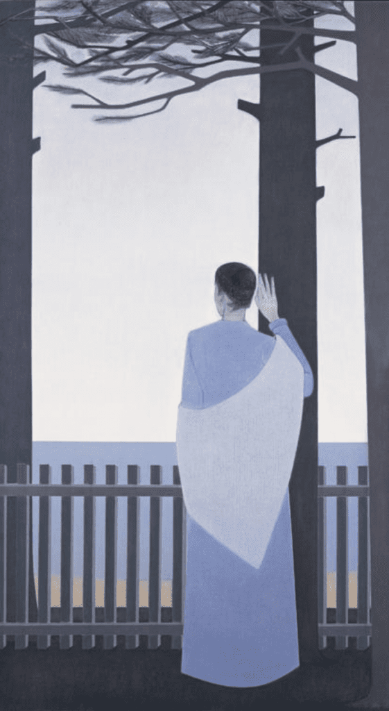 Will Barnet, Woman and Tall Trees, 1977, Oil on canvas, Gift of Will and Elena Barnet, 1991.4