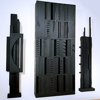 Louise Nevelson, The Endless Column, 1969-1985, painted wood, Collection of the Farnsworth Art Museum. Bequest of Nathan Berliawsky, 1980.35.30